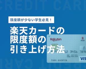 学生の楽天カードの限度額は最大30万円!一時的に引き上げる方法とは